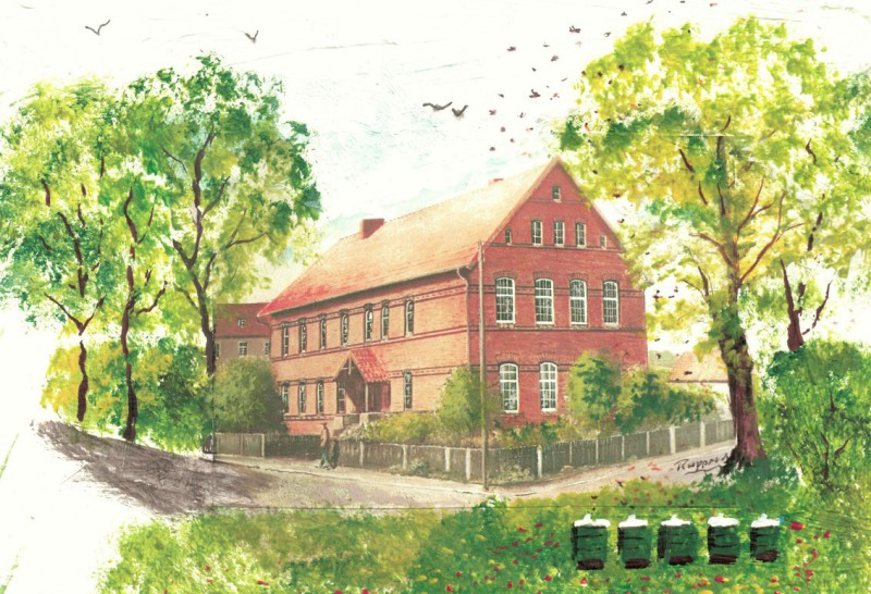 Alte Schule im Sommer